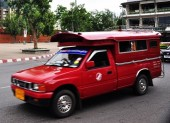 chiang Mai red taxi